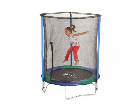 Батут для детей 148 см c защитной сеткой на пружинах