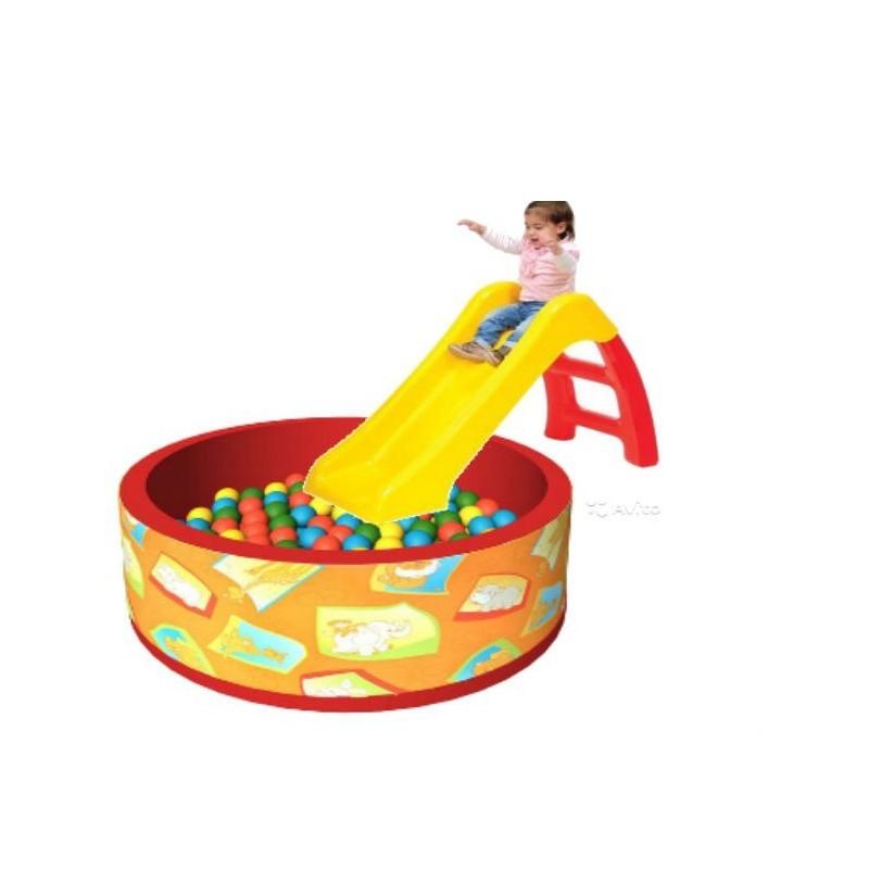 Горка Винни-Пух Smoby+Сухой бассейн с шариками «Подводный ...