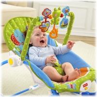 """Кресло-качалка """"Слоненок"""" Fisher Price от 0 до 18 кг с музыкой"""