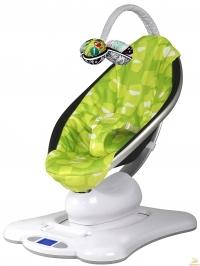 Укачивающий центр (Мама Ру) 4moms MamaRoo Green Plush 2.0 от сети.