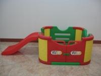 Детский игровой манеж с горкой и дверцами (без шариков)
