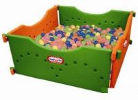 Детский игровой сухой бассейн 4 секции (250 шариков)