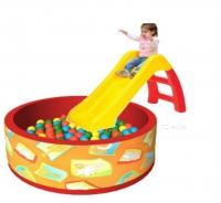 Горка Винни-Пух Smoby+Сухой бассейн с шариками «Подводный мир» (250 шариков)